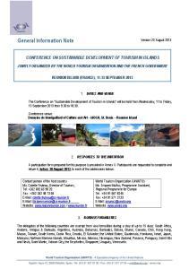General Information Note Version 23 August 2013