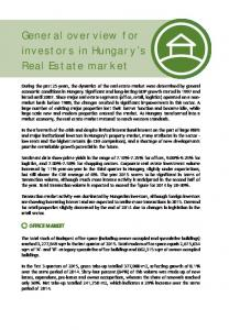 General overview for investors in Hungary s Real Estate market