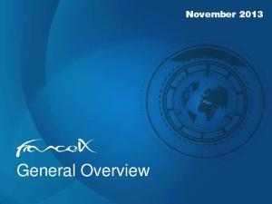 General Overview. November 2013