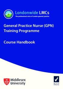 General Practice Nurse (GPN) Training Programme. Course Handbook