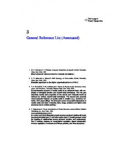 General Reference List (Annotated)