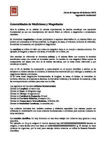 Generalidades de Mediciones y Magnitudes