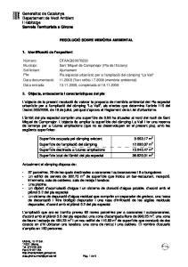Generalitat de Catalunya Departament de Medi Ambient i Habitatge Serveis Territorials a Girona