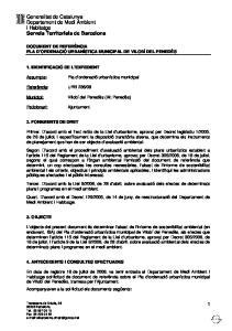Generalitat de Catalunya Departament de Medi Ambient i Habitatge Serveis Territorials de Barcelona
