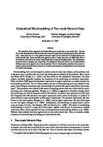 Generalized Blockmodeling of Two-mode Network Data