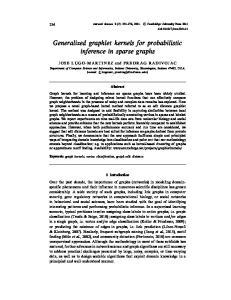 Generalized graphlet kernels for probabilistic inference in sparse graphs