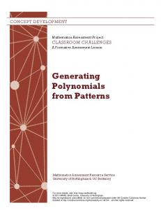 Generating Polynomials from Patterns