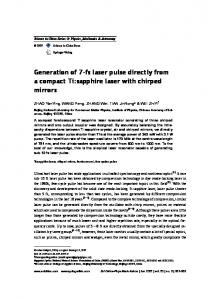 Generation of 7-fs laser pulse directly from a compact Ti:sapphire laser with chirped mirrors
