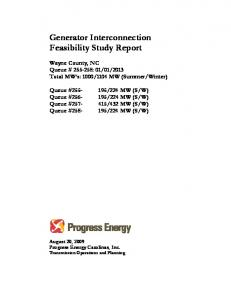 Generator Interconnection Feasibility Study Report