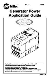 Generator Power Application Guide