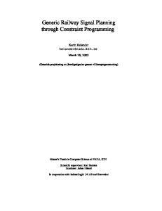 Generic Railway Signal Planning through Constraint Programming