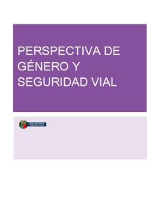 GÉNERO Y SEGURIDAD VIAL
