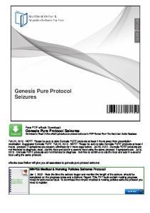 Genesis Pure Protocol Seizures