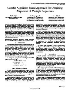 Genetic Algorithm Based Approach for Obtaining Alignment of Multiple Sequences