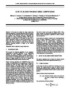 GENETIC-ALGORITHM BASED IMAGE COMPRESSION