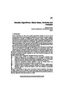Genetic Algorithms: Basic Ideas, Variants and Analysis