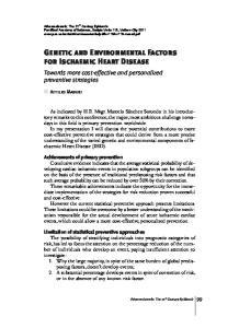Genetic and Environmental Factors for Ischaemic Heart Disease