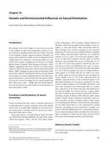 Genetic and Environmental Influences on Sexual Orientation