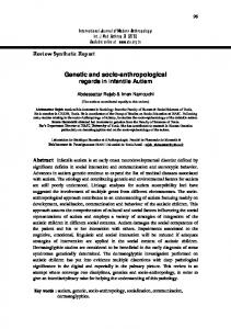 Genetic and socio-anthropological regards in infantile Autism