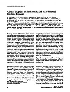 Genetic diagnosis of haemophilia and other inherited bleeding disorders