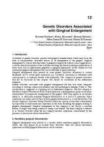 Genetic Disorders Associated with Gingival Enlargement