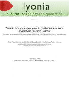 Genetic diversity and geographic distribution of Annona cherimola in Southern Ecuador