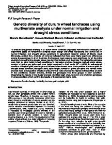 Genetic diversity of durum wheat landraces using multivariate analysis under normal irrigation and drought stress conditions