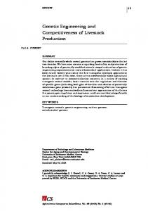 Genetic Engineering and Competitiveness of Livestock Production