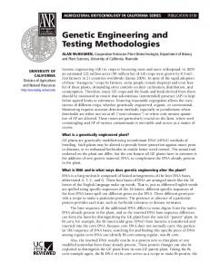 Genetic Engineering and Testing Methodologies