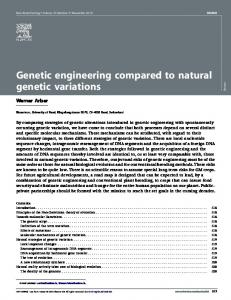 Genetic engineering compared to natural genetic variations