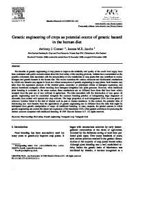 Genetic engineering of crops as potential source of genetic hazard in the human diet