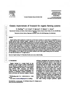 Genetic improvement of livestock for organic farming systems