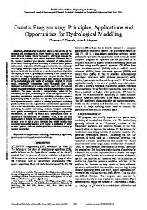 Genetic Programming: Principles, Applications and Opportunities for Hydrological Modelling