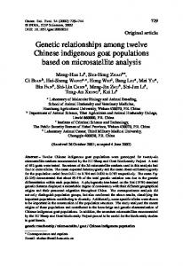 Genetic relationships among twelve Chinese indigenous goat populations based on microsatellite analysis