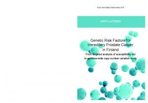 Genetic Risk Factors for Hereditary Prostate Cancer in Finland