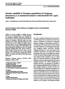 Genetic variability in European populations of Coregonus lavaretus (L.): an assessment based on mitochondrial ND-1 gene haplotypes