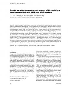 Genetic variation among asexual progeny of Phytophthora infestans detected with RAPD and AFLP markers