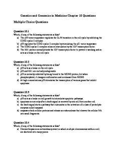 Genetics and Genomics in Medicine Chapter 10 Questions