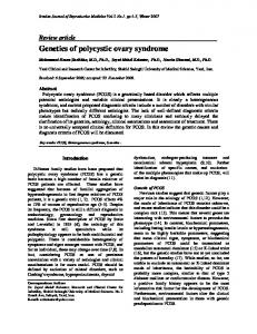 Genetics of polycystic ovary syndrome