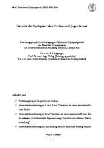 Genetik der Epilepsien des Kindes- und Jugendalters