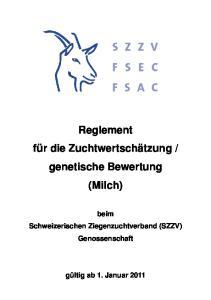 genetische Bewertung (Milch)