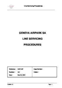 GENEVA AIRPARK SA LINE SERVICING PROCEDURES