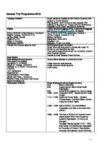 Geneva Trip Programme 2016