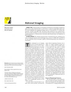 Genitourinary Imaging Review. Adrenal Imaging