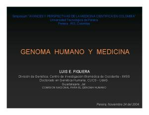 GENOMA HUMANO Y MEDICINA