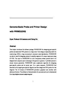 Genome-Scale Probe and Primer Design