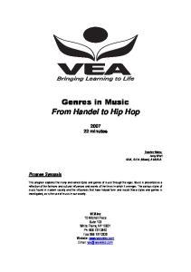 Genres in Music From Handel to Hip Hop