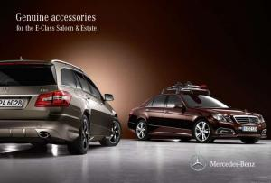 Genuine accessories for the E-Class Saloon & Estate