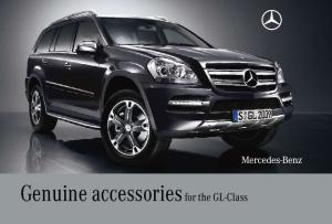 Genuine accessories for the GL-Class
