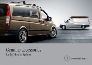 Genuine accessories. for the Vito and Sprinter